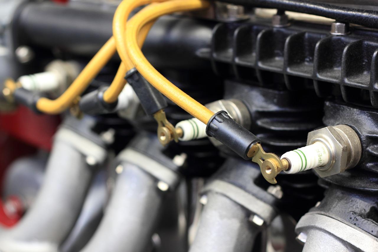 Detaljbild på bilmotor
