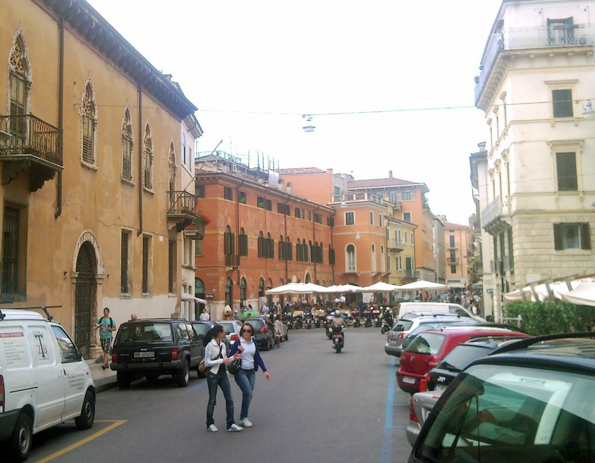 Stadsbild från Verona i Italien.