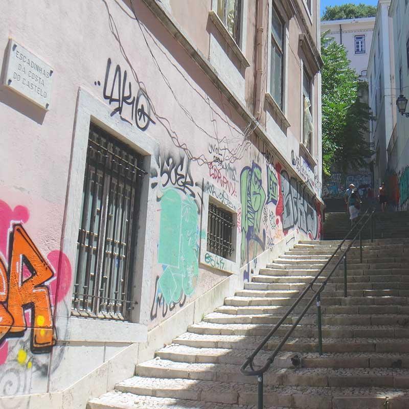 gata i form av en trappa