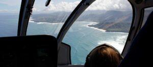 utsikt från helikopter över havet