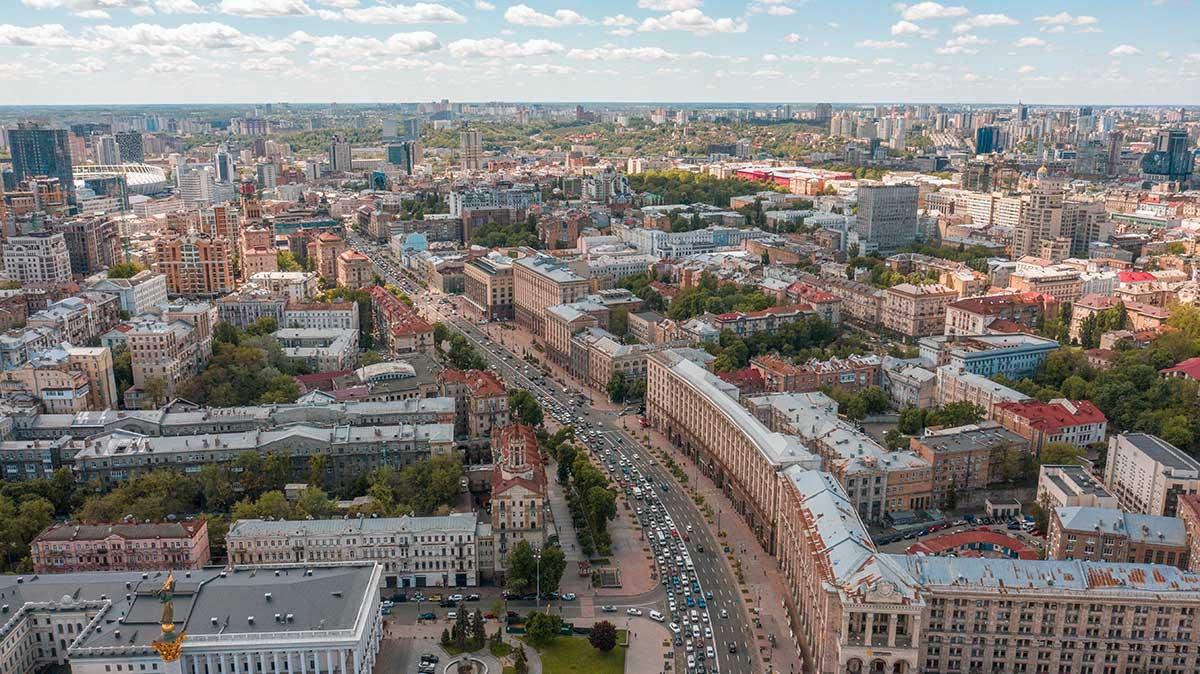 flygbild över stad på dagen
